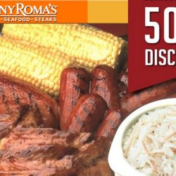Tony Roma's: Enjoy $25 OFF with a Min. Spend of $50++ on Weekdays