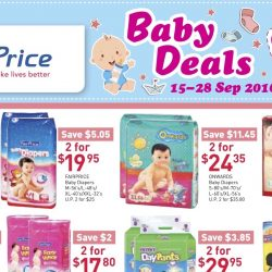 NTUC FairPrice: Baby Deals Up to 45% OFF Diapers, Baby Wipes and More