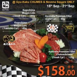 Gyu-Kaku: F1 Promotion - Special F1 Platter at $158++ (UP $172++)