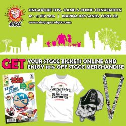 Candylicious: Enjoy a 10% discount off STGCC Merchandise when you buy Singapore Toy, Game & Comic Convention - STGCC tickets online