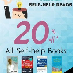 MPH: 20% off all Self-help Books at MPH Parkway Parade