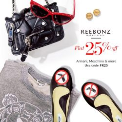 Reebonz: Coupon Code for Extra 25% off Designer Apparel from Armani, Moschino & More