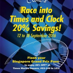 Marina Square: Flash your Singapore GP pass to enjoy 20% off at Times Bookstore Marina Square