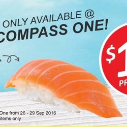 Umisushi: Exclusive $1 Sushi Promotion at Compass One Outlet