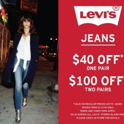 VivoCity: Enjoy $40 or $100 off your next pair(s) of jeans at Levi's