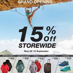 The North Face: 15% OFF Storewide at 313@Somerset