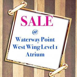 SEPPHIRE: Event sale at Waterway Point , West wing Level 1