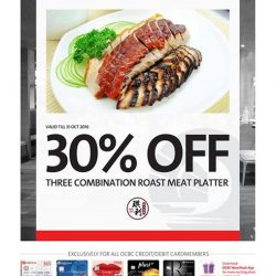 Kay Lee Roast Meat Joint: 30% OFF 3 Combination Roast Meat Platter with OCBC Cards