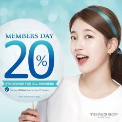 THE FACE SHOP: 20% OFF Storewide + 4X Membership Points for VIPs