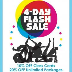 Bikram Yoga: 4-day flash sale - 10% off classcards and 20% off unlimited packages
