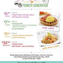 O' Coffee Club: Enjoy a Special Set Meal offer from just $6 exclusive for students and pioneer generations
