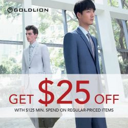 Goldlion: Enjoy $25 OFF with a min. spend of $125 on regular-priced products