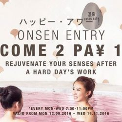 Yunomori Onsen and Spa: Weekday Special Promotion 1 for 1 Japanese Onsen Experience at $38+