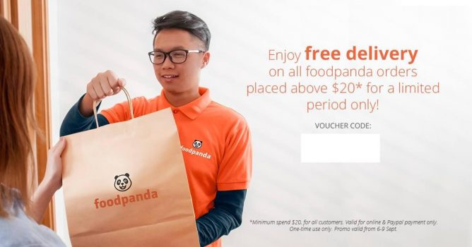 Lazada: Coupon Code for FREE Delivery on All Foodpanda Orders above $20