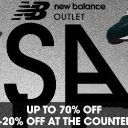 New Balance: Outlet Sale Up to 70% on a Wide Range of Footwear, Apparels and Accessories