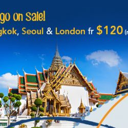 ZUJI: Massive Discounts on Cities Travellers Love - Seoul, London & Bangkok from $120 (Return)!