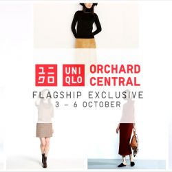 Uniqlo: Exclusive Offers up to $20 OFF at Uniqlo Orchard Central and Online!