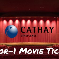POSB Passion Card: 1-for-1 Movie Tickets at Cathay Cineplex Cineleisure Orchard & Downtown East