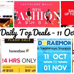 BQ's Daily Top Deals: Monster Curry 1-for-1 Student Special, H&M Further Reductions, Honestbee Up to $24 OFF, CapitaLand Malls 50% Fashion Cashback, Takashimaya Doraemon Merchandise Event, Groupon Up to 25% OFF & Ellenborough Market Cafe $80-for-Two Buffet Offers!