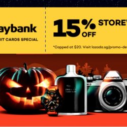 Lazada: Coupon Code for 15% OFF Storewide with Maybank Credit Cards