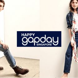 Gap: Birthday Bash with Free Shopping Vouchers + Free Denim Jeans + Logo Tees