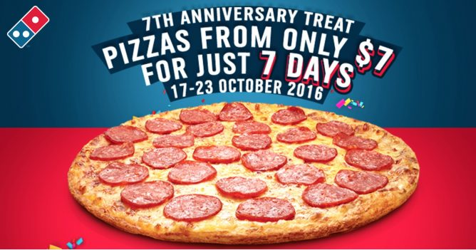 Domino S Pizza 7th Anniversary Promotion Get Your Favourite Thin