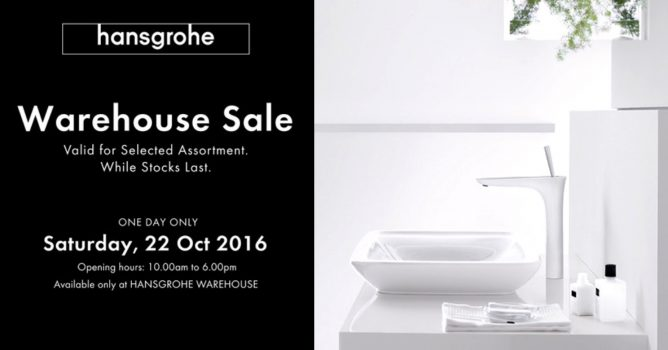Bathroom Fixtures Warehouse hansgrohe: one day only warehouse sale on bathroom fixtures 22 oct