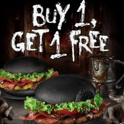 Burger King: Buy 1 Get 1 FREE Zom-B Burger with FB Post!