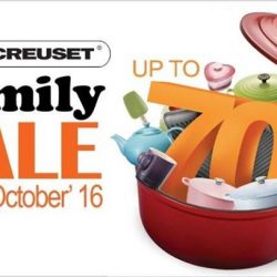 Le Creuset: Family Sale Up to 70% OFF Cookware