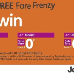 Jetstar: Friday FREE Fare Frenzy with $0 Fares to Darwin, Jakarta, Manila, Phnom Penh and Pekanbaru!