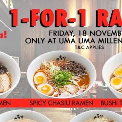 Uma Uma Ramen: 1-for-1 Ramen All Day at Millenia Walk!