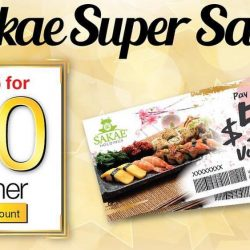 Sakae Sushi: Save 30% with Sakae Super Saver Vouchers!
