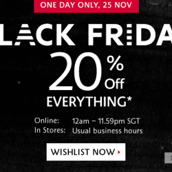 Sephora Singapore Online store: Black friday 20% off everything
