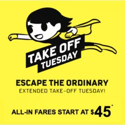 FlyScoot: Take Off Tuesday from $45 onwards to Bangkok, Taipei, Melbourne, Tokyo & Many More!