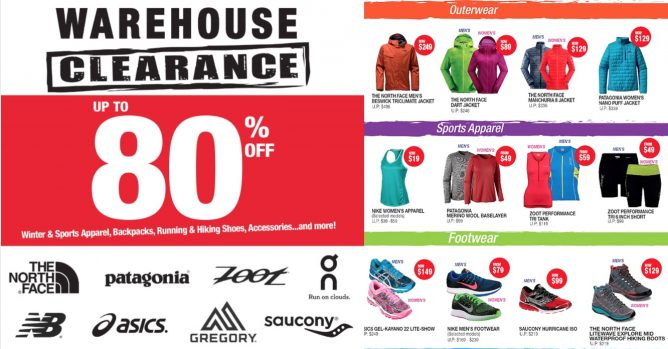 e8b30de73 Outdoor Venture: Sports Warehouse Clearance Sale Up to 80% OFF Asics ...