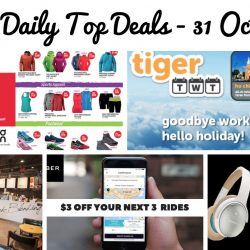 BQ's Daily Top Deals: Uber $3 OFF Next 3 Rides, Tigerair Airfare Promo, Dal.komm Coffee Cafe Opening in Singapore, Atlas Warehouse Sale & Outdoor Venture Warehouse Sale!