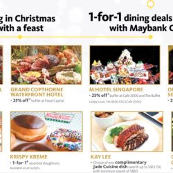 Maybank: 1-for-1 Dining Deals and More Including Krispy Kreme!