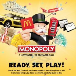 McDonald's: The Monopoly Game is Back from Today!