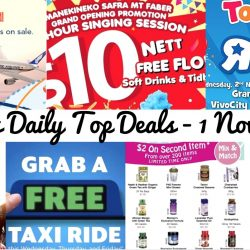 "BQ's Daily Top Deals: ZUJI Flash Sale on SQ Flights, GrabTaxi FREE Ride, $10 Nett for 2 Hour Singing Session at Manekineko, Holland & Barrett Coupons, Yamaha Year End Sale, OSMOSE 50% OFF Sale & Toys""R""Us VivoCity Store Promotions!"