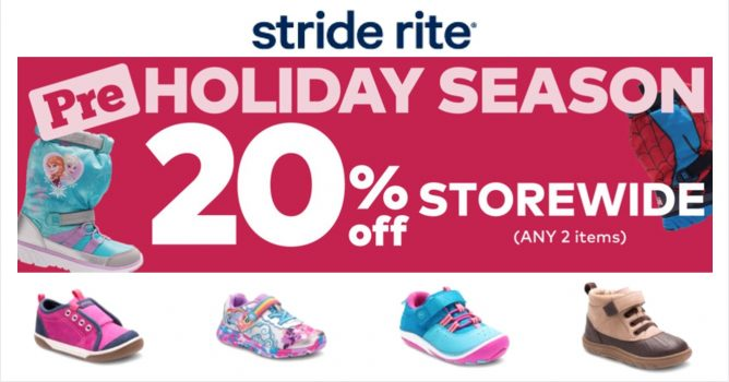 b043150b94b9 Get premium children s footwear at Stride Rite PRE-HOLIDAY SEASON SALE!  Enjoy 20% OFF STOREWIDE (including NEW ARRIVALS) on ANY pair of shoes + ANY  item!