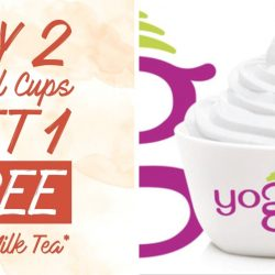Yoguru: Buy 2 Small Cups Get 1 Thai Milk Tea Yogurt FREE