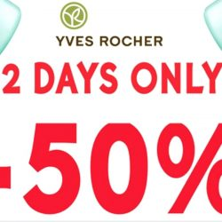 Yves Rocher: Pre-Christmas Special with 50% OFF Storewide on Regular-Priced Items
