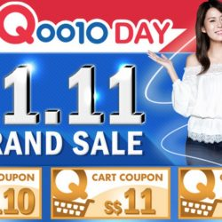 Qoo10: Up to $110 Cart Coupons Up for Grabs & 11.11 Grand Sale!