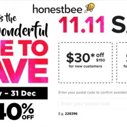 Honestbee: Coupon Code for Up to $30 OFF Your Order