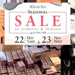 Kanebo: Seasonal Sale 2016 Up to 70% OFF Cosmetics & Skincare