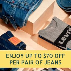 Levi's: Enjoy up to $70 OFF on Each Pair of Jeans + Get FREE Leather Wallet
