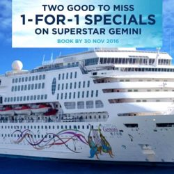 Star Cruises: 1-for-1 Specials on SuperStar Gemini
