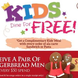 O' Coffee Club: Kids Enjoy a Free Meal + Free Pair of Gingerbread Men with Every $50 Spend