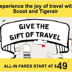 FlyScoot/Tigerair: All-In One Way Festive Fares from $49