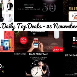 BQ's Daily Top Deals: Black Friday Sales at LookFantastic, ezbuy, Uniqlo, Althea, CapitaLand Malls, RedMart, Robinsons & Other Offers!